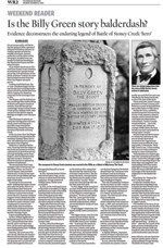 Is the Billy Green story balderdash? by James Elliot :: The Hamilton Spectator, Saturday, December 12, 2009