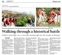 Walking through a historical battle